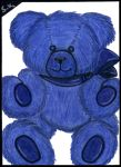 ACEO Misc 02 'Blue Teddy' by Swindle86