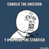 Charlie the Unicorn y u no by Peppermintpony899