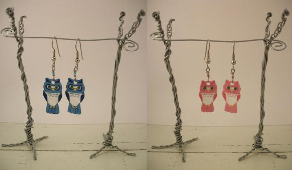 Cute Owl Earrings by knacc