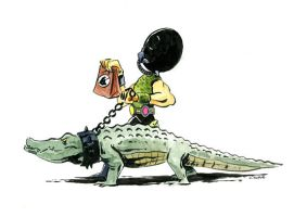 Croc Master by littlereddog