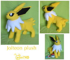 Jolteon plush by Fox7XD