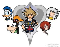 Kingdom Hearts 2 shirt front by MichaelMayne