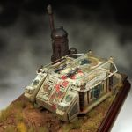 Rhino MkI Luna Wolves Chapter painted by YellowOne by TRUEvector