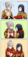 4koma - Scarf by Gumbat-Art