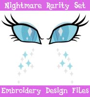 Nightmare Rarity Eye and CM Set [EMBROIDERY FILES] by TheHarley