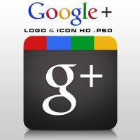 Google+ Logo and Icon HD .PSD by zandog