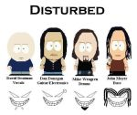 Disturbed in South Park Style by Shady-Lurker