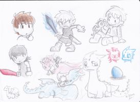 Eragon doodles by LeniProduction
