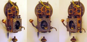 Steampunk Music Box assemblage by zimzim1066