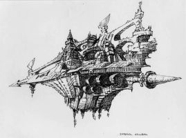 Battlefleet Gothic - Imperial Galleon by rmohr