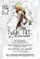 noche blanca flyer white party by DeityDesignz