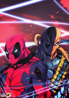 Deadpool-DeathStroke by Mr5star