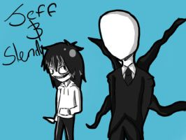 jeffy and slendy by SoulEaterEvans123