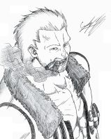 Captain Smoker - Pencils by LordShmeckie