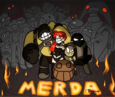 Merda deluxe CD cover by BrokenTeapot