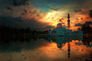 Floating Mosque II by l23456789