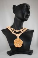 Peach Rose Necklace by johannachambers