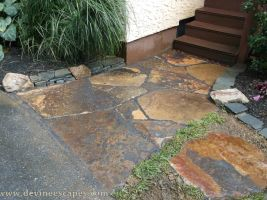 Flagstone Walkway Palmerton PA by Devine-Escapes
