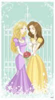 Rosalie and Bella-Brides by Sciogie