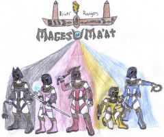 Power Rangers: Mages of Ma'at by werewolfwannabe1224
