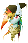 Painted Rainbow Dash by QueenBloodySky