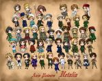 chibi Axis Powers Hetalia by aomarine