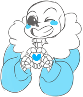 Sans Love: Remember some one loves you~ by MutantCatRose