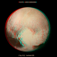 Pluto in Anaglyph 3D by Trilyan
