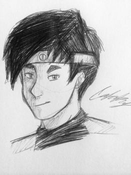 Quick sketch: Ulrich Stern from Code Lyoko by catakus