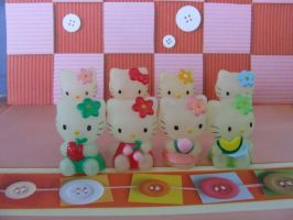Hello Kitty Models by Strawberry-Crepe