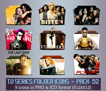 TV Series - Icon Pack 52 by apollojr
