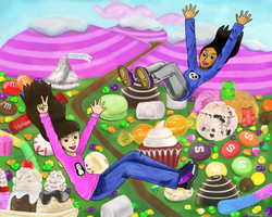 Falling to Candyland by Yanang