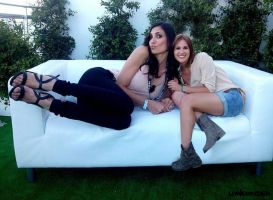 Tall Daniela Ruah on couch by lowerrider