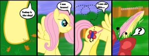 Brave FlutterShy is Brave by ThePokemonTrainer