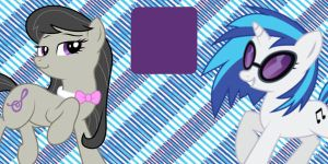 Octavia and Vinyl Twitter Header by AceofPonies