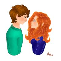 boy and girl by mnmgreenforest