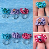 Octopi Rings by queenrocks324