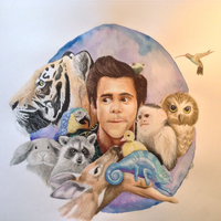 Ace Ventura   Watercolor and Colored Pencil by ohheydevin19