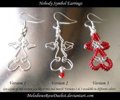 Nobody Symbol Earrings by MelodiousRoseDuelist