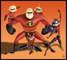 Family of Supers - Color by Thally