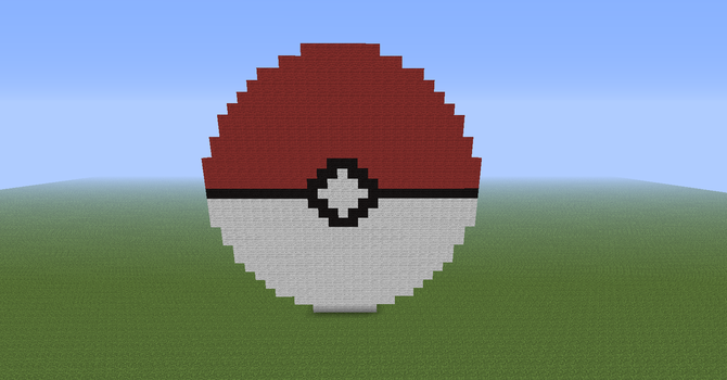 Minecraft Pokeball by PokemonSoldier