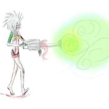 Kashmir and her lazer thingie. by shan0chan