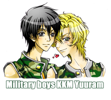 Military boys by RedGlassesGirl
