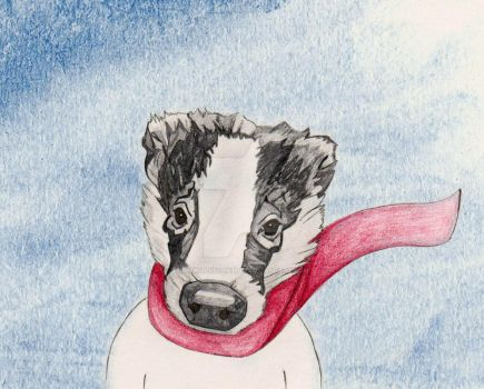 Cosy badger by hmwillustration