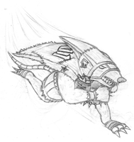 SKETCH - Skaven Gutter Runner by The-Fat-Red-Dragon