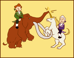 Republican Mammoth versus Federalist Unicorn by Publius-Reporter