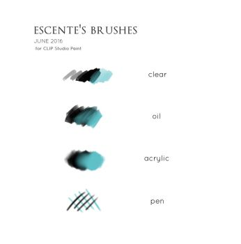 My brush settings by Escente