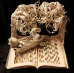 The Wind in the Willows Book Sculpture by wetcanvas