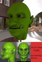 Orc Head Trophy by 3dmodeling