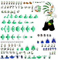 Aeon The Hedgehog Sprite Sheet by superdarkshadic